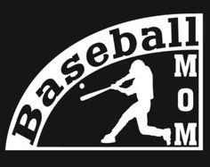 Baseball Player Mom Field Of Play Ball Decal Sticker Car Window