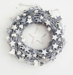 Items similar to White&grey wreath - winter Christmas door wreaths december holiday outdoor decorations rustic stars Xmas wooden decor on Etsy White&grey wreath - winter december holiday door wreaths outdoor decorations rustic stars Xmas wooden decor Noel Christmas, Winter Christmas, Christmas Crafts, Christmas Decorations, Xmas, Outdoor Decorations, Advent Wreath, Diy Wreath, Wreath Ideas