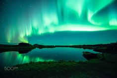 myvatnsee nordlicht - I took this picture on the myvatnlake in the northeast of iceland in october the northern lights were very strong and beautiful. Iceland, Northern Lights, Nature, October, Pictures, Strong, Travel, Beautiful, Northen Lights