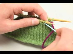 http://www.YARN.com -- Learn how to Kitchener stitch with WEBS education manager Tina McElmoyl. Kitchener stitching is a great way to invisibly graft two pie...