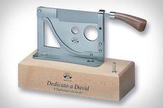 Dedicato A David Tabletop Cigar Cutter   Uncrate