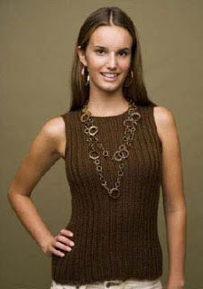 Basic Tank - Free Knitted Pattern - (knitquik.blogspot)