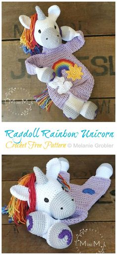 "Amigurumi means ""knitted or crocheted stuffed doll"" in Japanese. Get Adorable and Cute Ideas of Crochet Unicorn Patterns: Crochet Unicorn Patterns:crochet: Crochet Unicorn Blanket, Crochet Unicorn Pattern Free, Crochet Dolls, Crochet Baby, Free Crochet, Knit Crochet, Softies, Amigurumi Patterns, Crochet Patterns"