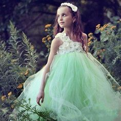Mint Green Tutu Kids Pageant Ball Gowns Ruffles Puffy communion dresses for girls flower girl dresses for weddings