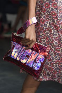 House of Holland Spring 2015 Collection Iridescence Clutch