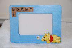 Picture frame Scrabble letter Mommy & Me by CrocusRoadCrafts #craftshout0213