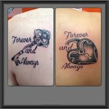 """My husband and I have that saying """" Always and Forever"""" what a good touch for a lock and key tattoo!"""