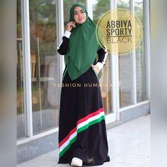 Abbiya Sporty by Humaira Hijab Fashion, Sari, Sporty, Black, Fashion Styles, Saree, Black People, Saris, Sari Dress