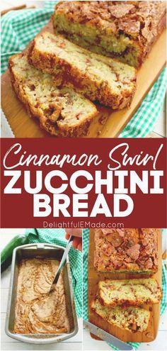 Cinnamon Zucchini Bread, Zucchini Banana Bread, Peanut Butter Banana Bread, Cinnamon Swirl Bread, Bake Zucchini, Chocolate Banana Bread, Best Banana Bread, Recipe For Zucchini Bread, Recipes