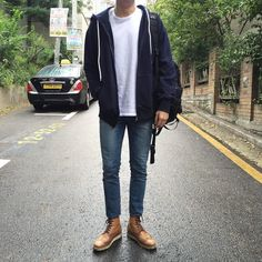 New College Students Look Away by apckr Cool Outfits, Casual Outfits, Men Casual, Look Fashion, Fashion Outfits, Fashion Trends, Style Masculin, Korean Fashion Men, Korean Outfits