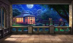 background night backyard episode living tv episodelife anime backgrounds wall int interactive scenery animation control ext moon wallpapers
