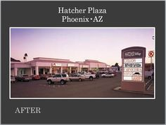 Hatcher Plaza after Re-Development by Michael A Pollack, owner of Pollack Investments.  For available locations of retail and business spaces call Michael and visit our web site at www.pollackinvestments.com