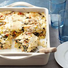 Trying to eat more veggies but meeting resistance from your tastebuds? Try masking vegetables in a gooey blanket of melty cheeses to ease your way into becoming a veggie-lover! Recipe: http://www.bhg.com/recipes/trends/cheesy-recipes/?socsrc=bhgpin031715cheesyvegetablelasagna&page=21