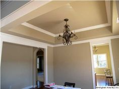 Two tone tray ceiling.