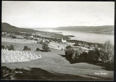 Akershus fylke Eidsvoll kommune FEIRING. Oversikt. Foto Berger stpl. Feiring 1954 Genealogy, Snow, Photos, Outdoor, Vintage, Pictures, Outdoors, Photographs, Family Tree Chart