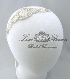 Wedding Headband Rhinestone Pearl Jeweled by LoveForeverBridal, $24.95