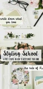 Styling School How to Accessorize. A free ebook! - at home with Ashley