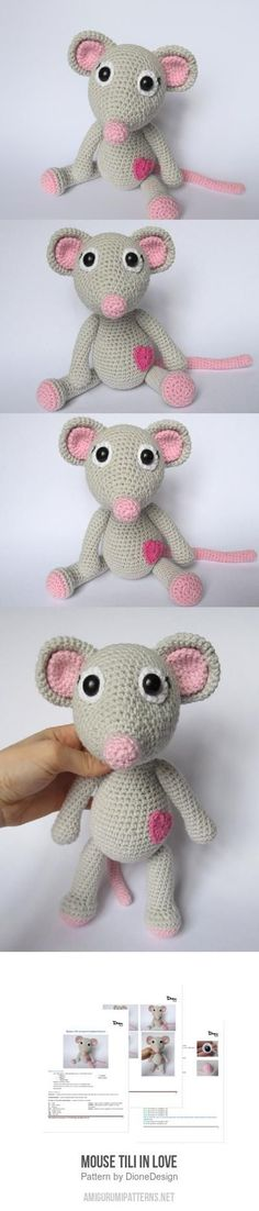Mouse Tili In Love Amigurumi Pattern
