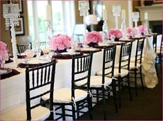 """Today's Real Party feature is a gorgeous """"Gossip Girl Inspired"""" Bridal Shower created by event planner Carolyn Chen of The Special Day. The details of this"""