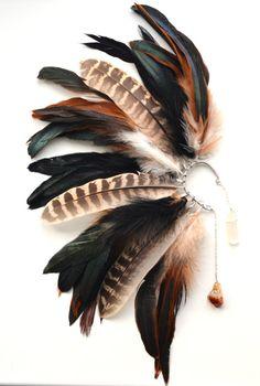 Feather Jewelry, Feather Earrings, Feather Hair, Ear Earrings, Tribal Earrings, Ear Cuffs, Boho Gypsy, Boho Look, Stones And Crystals
