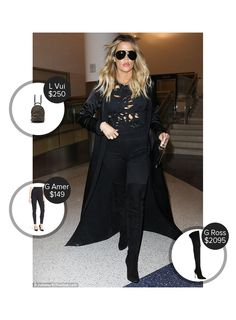 Khloe Kardashian Lax Airport - seen in Gianvito Rossi, Good American and carrying Louis Vuitton. #gianvitorossi #louisvuitton #goodamerican  #khloekardashian @mode.ai