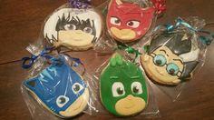 Pj masks cookies with villans by Ladybugcakesdotcom on Etsy