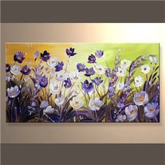 Large Original Oil Painting Contemporary Modern Flowers Art Palette Knife Impasto DAISY Floral by Luiza Vizoli Oil Painting Flowers, Abstract Flowers, Texture Painting, Painting & Drawing, Arte Floral, Your Paintings, Contemporary Paintings, Painting Techniques, Painting Inspiration