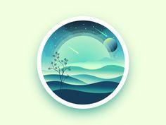 Landscape badge by Julien #Design Popular #Dribbble #shots