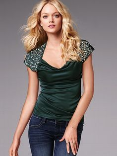 Studded Embellished Cowlneck #VictoriasSecret http://www.victoriassecret.com/clothing/view-all-tops/studded-embellished-cowlneck?ProductID=68746=OLS?cm_mmc=pinterest-_-product-_-x-_-x