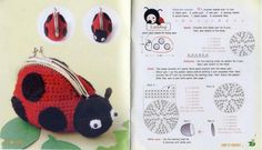 Free Amigurumi Crochet Pattern : Ladybug Purse