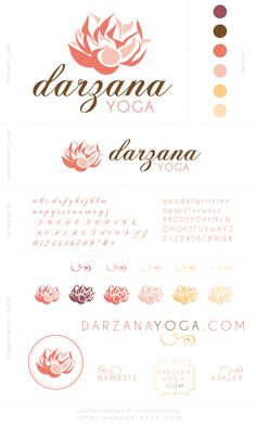 Custom Logo Design + Branding by Limefish Studio | Darzana Yoga | Spa Logo | Color Palette | Custom Designs