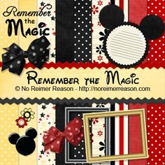free disney mickey & minnie scrapbook kit printable / clip art