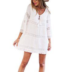 Now available on our store: White Dress Women... Check it out here! http://lestyleparfait.co.ke/products/white-dress-women-lace-boho-dress-party-dress?utm_campaign=social_autopilot&utm_source=pin&utm_medium=pin #onlineshoppingkenya #fashionkenya #stylekenya