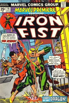 For sale marvel premiere 16 comic book origin iron fist gil kane artwork emorys memories. Avengers Comics, Marvel Comic Books, Comic Book Heroes, Marvel Characters, Comic Books Art, Comic Art, Dc Comics, Book Art, Iron Fist Marvel