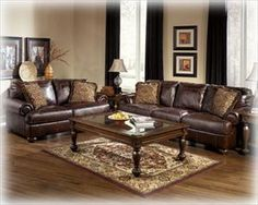 Living Room Sets Leather brown leather living room | dark brown leather sofa in rustic