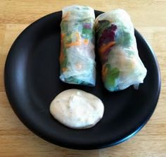 Summer Rolls - and dipping sauce.  Easy, light and fresh summer meal.