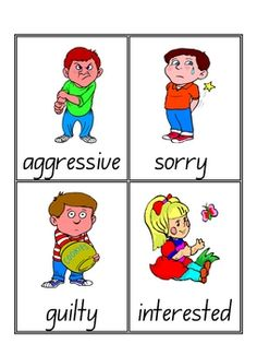 Emotions-VocabularyFlash-Cards-Word-Wall-7-pages-165837 Teaching Resources - TeachersPayTeachers.com
