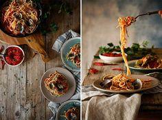 Espaguetis vongole con salsa arrabiata-Los Tragaldabas