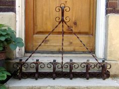 Huge Very Old Spiral Wrought Iron Metal Rustic by JewelsRosesNRust, $495.00