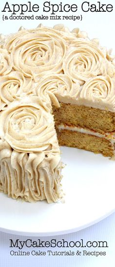 APPLE SPICE CAKE- A DOCTORED CAKE MIX RECIPE - My Kitchen Recipes