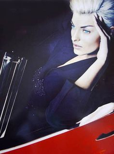 Linda Evangelista, Photo by Nick Knight For Jil Sander Campaign, Fall 1991.