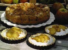 En saftig päronkaka med en spröd yta. Är du allergisk mot valnötter så uteslut dem bara. På bilden ser du små tarteletter fyllda med keso, nötter, vispgrädde och honung och toppade med smörfrästa äpplen. Den saftiga päronkakan innehåller både ingefära och valnötter.