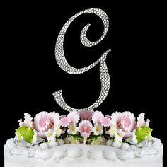Completely Covered ~ Swarovski Crystal Wedding Cake Topper ~ Letter G