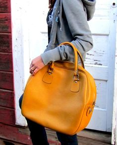 weekender bag! looks like an old bowling bag
