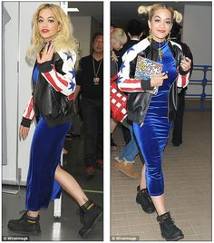 CAT boots as worn by Rita Ora.