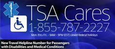 Avoid Airport Pat-Down : New TSA Helpline for People With Disabilities #NMEDA