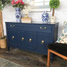 indigo blue mid century buffet paint colors and inspiration rh pinterest com navy blue buffet table navy blue buffet table