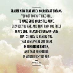 something is worth fighting for.