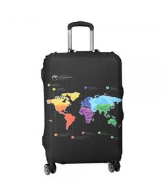 Travel Luggage Cover Public Domain Suitcase Protector Fits 22-24 Inch Washable Baggage Covers