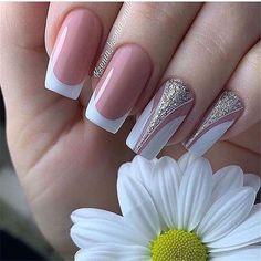 There must be your favorite nail ideas in 140 classic nail designs. - Page 87 of 139 - Inspiration Diary Nail Manicure, Toe Nails, Nail Polish, Classic Nails, Bridal Nails, Beautiful Nail Designs, Artificial Nails, Nail Decorations, Nail Art Hacks